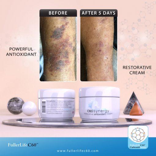 Antioxidant cream benefits of Carbon 60 (c60)